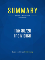 The 80/20 Individual (Review and Analysis of Koch's Book)