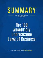 The 100 Absolutely Unbreakable Laws of Business Success (Review and Analysis of Tracy's Book)
