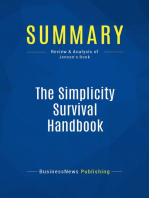 The Simplicity Survival Handbook (Review and Analysis of Jensen's Book)