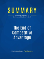 The End of Competitive Advantage (Review and Analysis of Gunther and Mcgrath's Book)