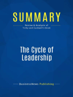 The Cycle of Leadership (Review and Analysis of Tichy and Cardwell's Book)