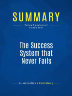 The Success System that Never Fails (Review and Analysis of Stone's Book)