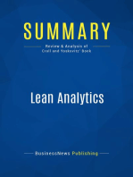 Lean Analytics (Review and Analysis of Croll and Yoskovitz' Book)