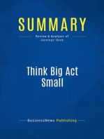 Think Big Act Small (Review and Analysis of Jennings' Book)
