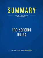 The Sandler Rules (Review and Analysis of Mattson's Book)