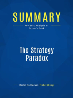 The Strategy Paradox (Review and Analysis of Raynor's Book)