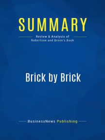 Brick by Brick (Review and Analysis of Robertson and Breen's Book)