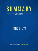 Trade-Off (Review and Analysis of Maney's Book)