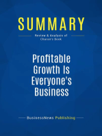 Profitable Growth Is Everyone's Business (Review and Analysis of Charan's Book)