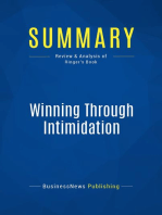 Winning Through Intimidation (Review and Analysis of Ringer's Book)