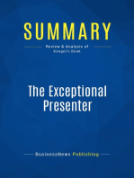The Exceptional Presenter (Review and Analysis of Koegel's Book)