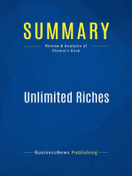 Unlimited Riches (Review and Analysis of Shemin's Book)