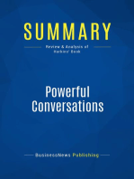 Powerful Conversations (Review and Analysis of Harkins' Book)