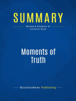 Moments of Truth (Review and Analysis of Carlzon's Book)