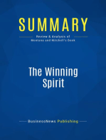 The Winning Spirit (Review and Analysis of Montana and Mitchell's Book)