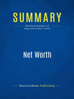 Net Worth (Review and Analysis of Hagel and Singer's Book)
