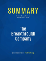 The Breakthrough Company (Review and Analysis of Macfarland's Book)