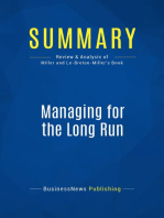 Managing for the Long Run (Review and Analysis of Miller and Le-Breton-Miller's Book)