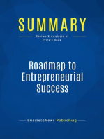 Roadmap to Entrepreneurial Success (Review and Analysis of Price's Book)