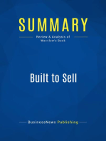 Built to Sell (Review and Analysis of Warrilow's Book)