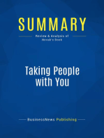 Taking People with You (Review and Analysis of Novak's Book)