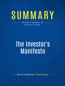 The Investor's Manifesto (Review and Analysis of Bernstein's Book)