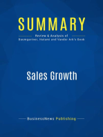 Sales Growth (Review and Analysis of Baumgartner, Hatami and Vander Ark's Book)
