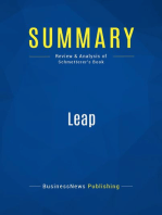 Leap (Review and Analysis of Schmetterer's Book)