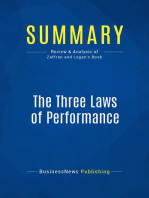The Three Laws of Performance (Review and Analysis of Zaffron and Logan's Book)