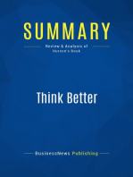 Think Better (Review and Analysis of Hurson's Book)