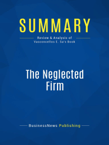 The Neglected Firm (Review and Analysis of Vasconcellos E. Sa's Book)