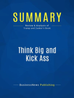 Think Big and Kick Ass (Review and Analysis of Trump and Zanker's Book)