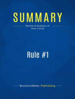 Rule #1 (Review and Analysis of Town's Book)