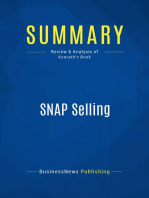 SNAP Selling (Review and Analysis of Konrath's Book)