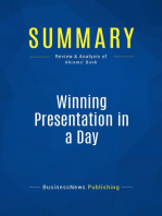 Winning Presentation in a Day (Review and Analysis of Abrams' Book)