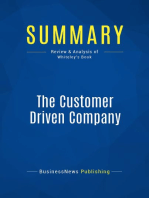 The Customer Driven Company (Review and Analysis of Whiteley's Book)