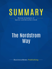 The Nordstrom Way (Review and Analysis of Spector and McCarthy's Book)