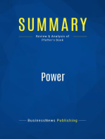 Power (Review and Analysis of Pfeffer's Book)