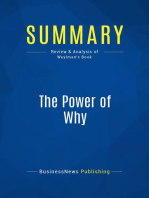 The Power of Why (Review and Analysis of Weylman's Book)