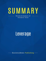 Leverage (Review and Analysis of Checketts' Book)