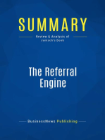 The Referral Engine (Review and Analysis of Jantsch's Book)