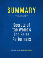 Secrets of the World's Top Sales Performers (Review and Analysis of Harvey's Book)