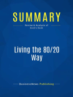 Living the 80/20 Way (Review and Analysis of Koch's Book)