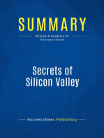 Secrets of Silicon Valley (Review and Analysis of Piscione's Book)
