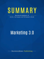 Marketing 3.0 (Review and Analysis of Kotler, Kartajaya and Setiawan's Book)