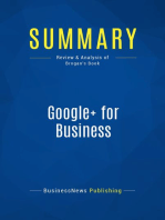 Google+ for Business (Review and Analysis of Brogan's Book)
