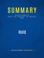Hold (Review and Analysis of Chader, Doty, Mckissack and Mckissak's Book)