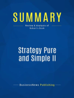 Strategy Pure and Simple II (Review and Analysis of Robert's Book)