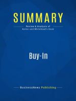 Buy-In (Review and Analysis of Kotter and Whitehead's Book)