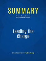 Leading the Charge (Review and Analysis of Zinni and Koltz's Book)